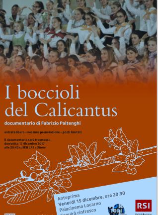 Anteprima al Palacinema del documentario:                      I boccioli del Calicantus