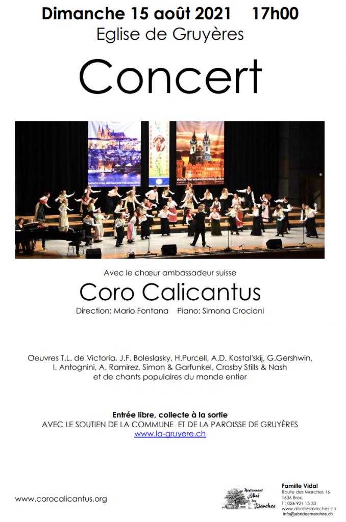 Concerto a Gruyéres (FR)